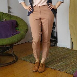 NWOT Tan Ankle Crop Pants / Trousers